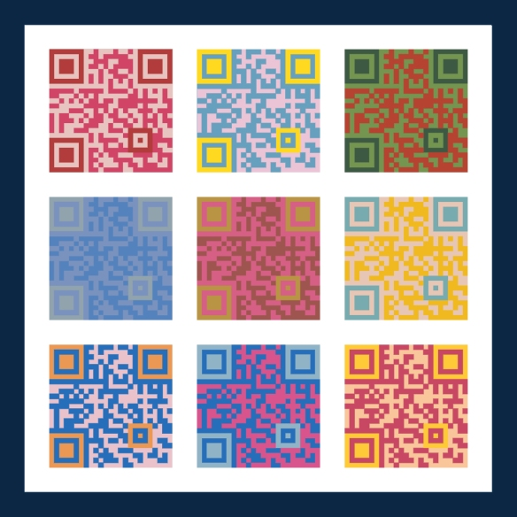 QR Code Quilted Image