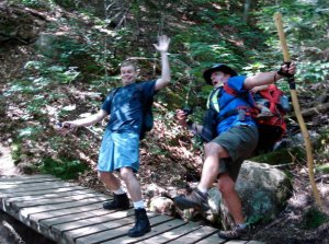 Ryan and Tom on the bridge
