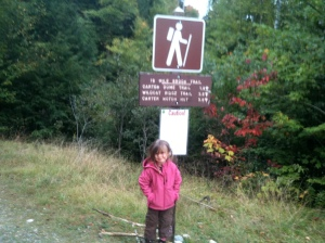 Riley at the 19 Mile Brook Trailhead