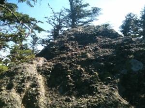 North Kinsman Summit Boulder