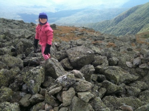 Riley on Mt. Monroe