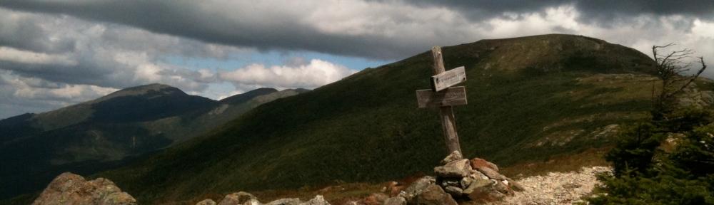 The Edmands Path junction on Mt. Eisenhower