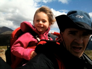 Riley and dad on Mt. Eisenhower