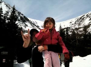 Riley visits Tuckerman Ravine