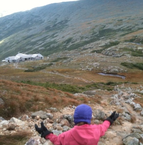 Riley reaches Lakes of the Clouds hut