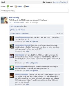 Nike Facebook Mistake Fail