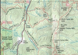 South and Middle Carter Trail Map