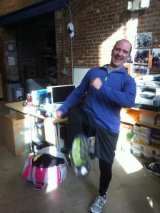 Tom Bishop Training for the 2012 Boston Marathon