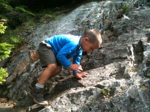 Connor tackles the Flume Slide