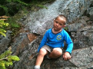 Connor resting on the Flume Slide