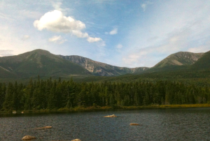 View of Mount Katahdin from Sandy Stream Pond