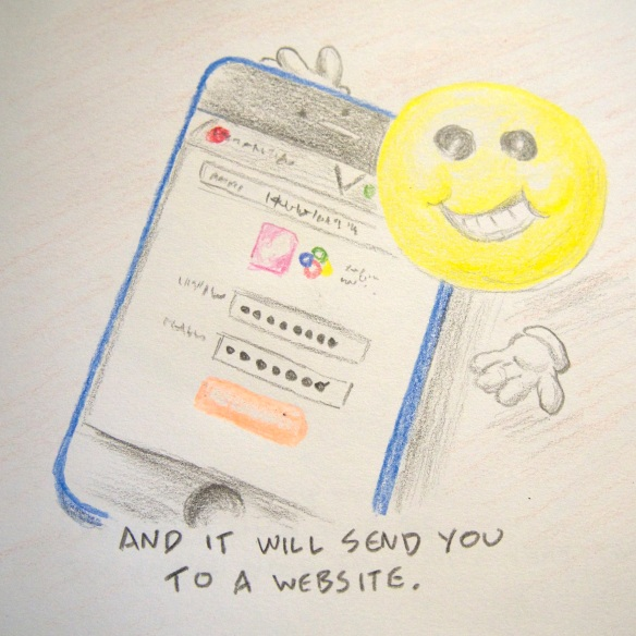 And it will send you to a website